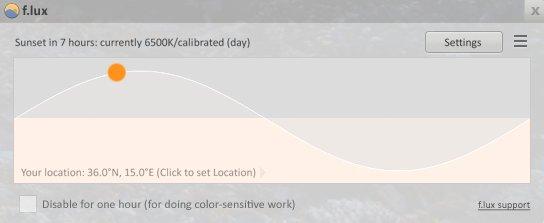 blauw licht filter computer flux